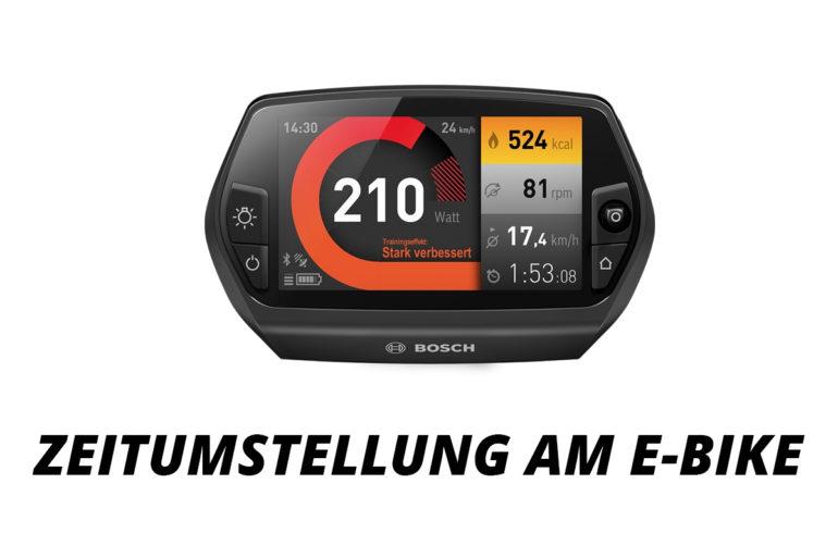 Zeitumstellung am E-Bike Bosch, Yamaha und Flyer