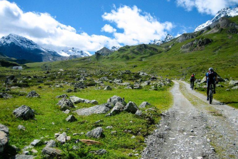 Mountainbike in den Bergen