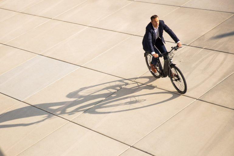 E-Bike in der Stadt
