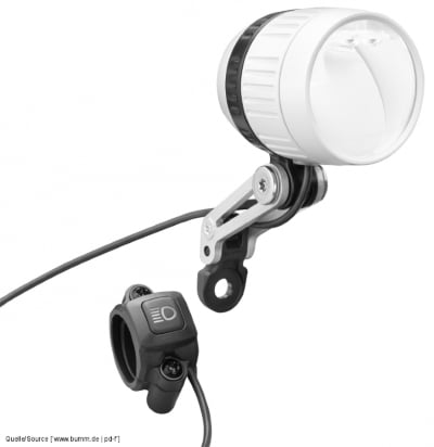 Busch + Müller E-Bike Scheinwerfer IQ-XM, silber, mit Fernlichtknopf