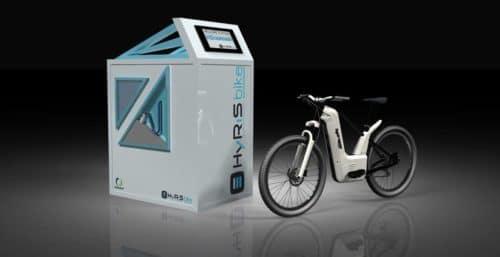 Wasserstoff-Fahrrad mit Tankstelle