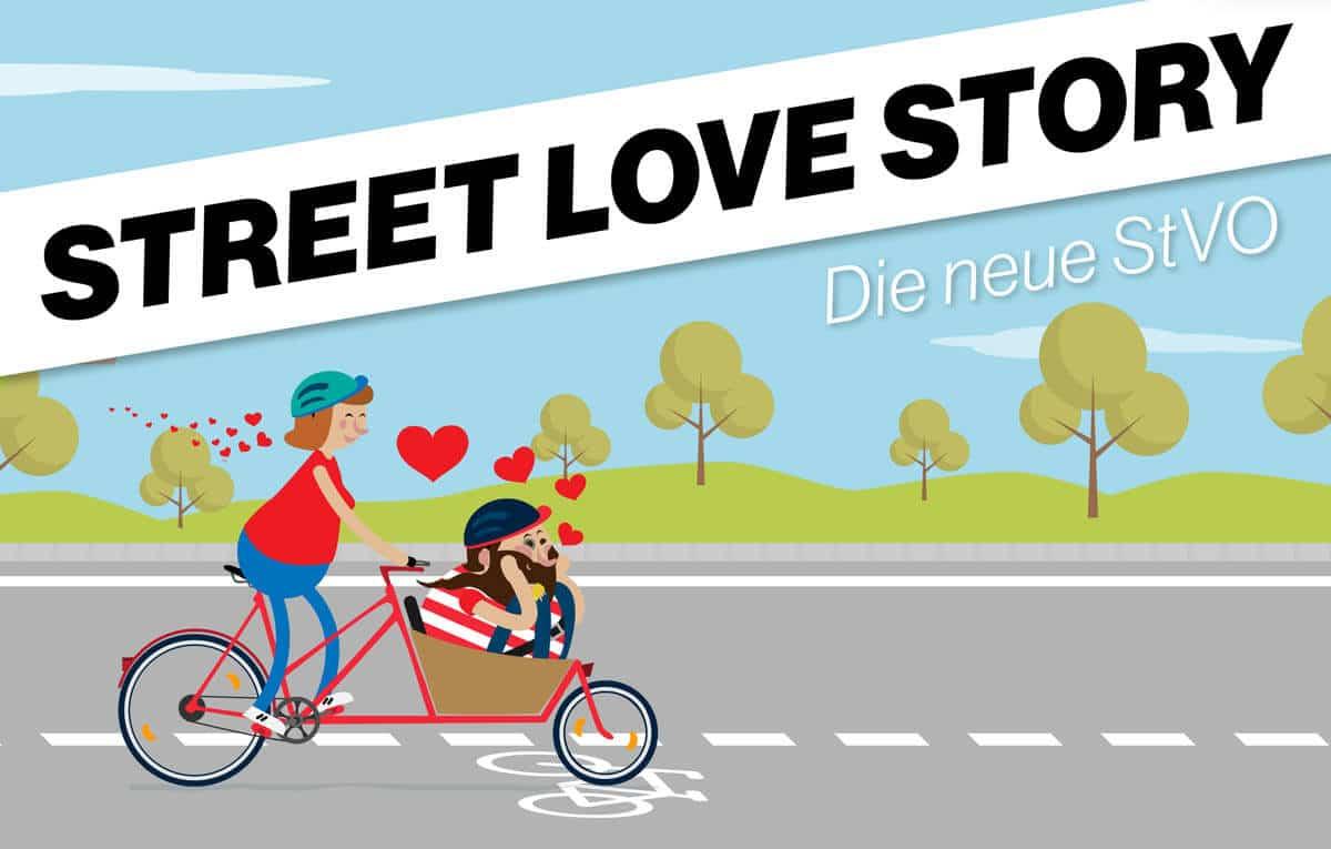 """Titelbild der Kampagne """"Street Love Story"""" zur 54. StVO-Novelle"""