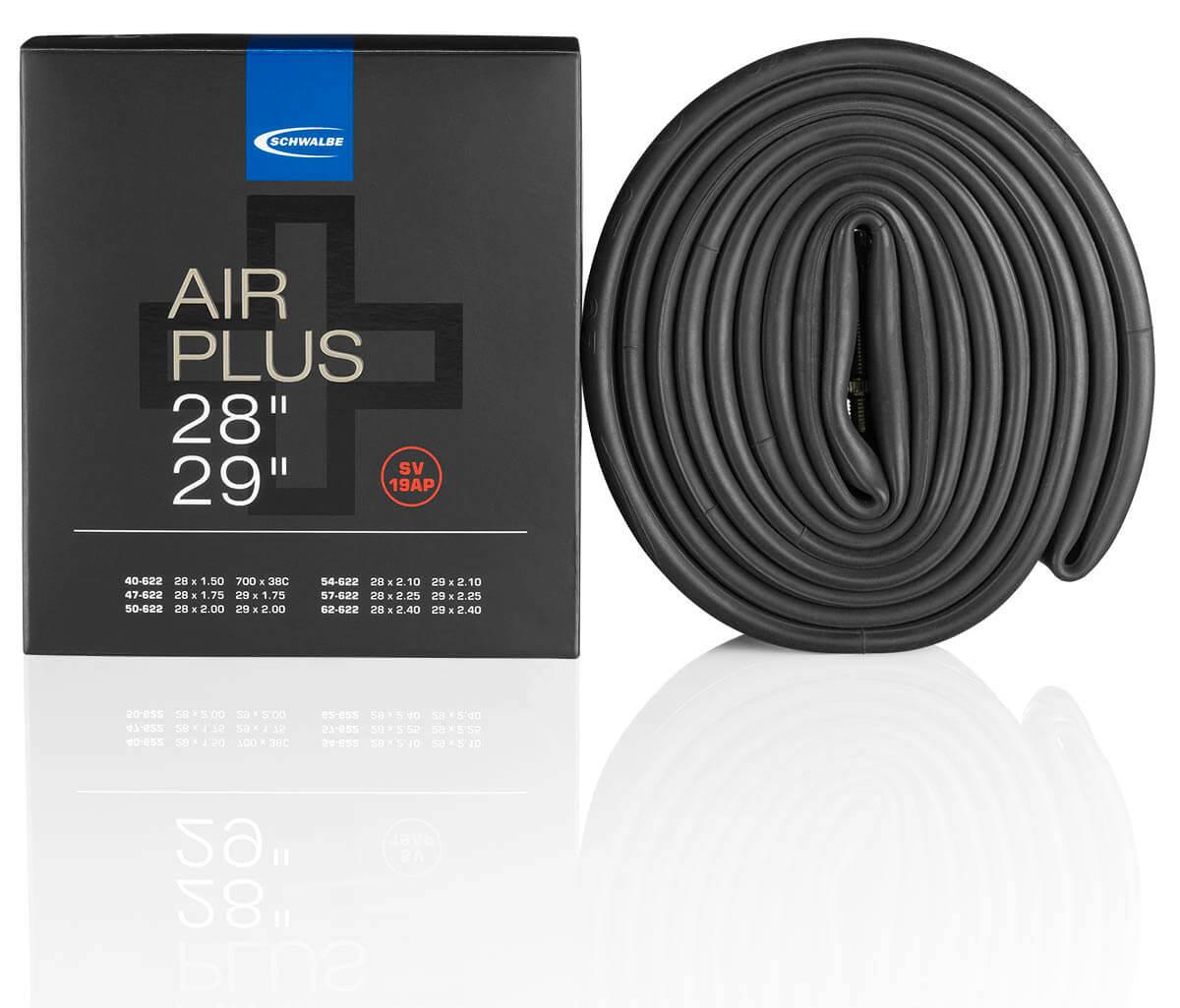 Fahrradschlauch Air Plus von Schwalbe in verschiedenen Größen von 20 bis 29 Zoll