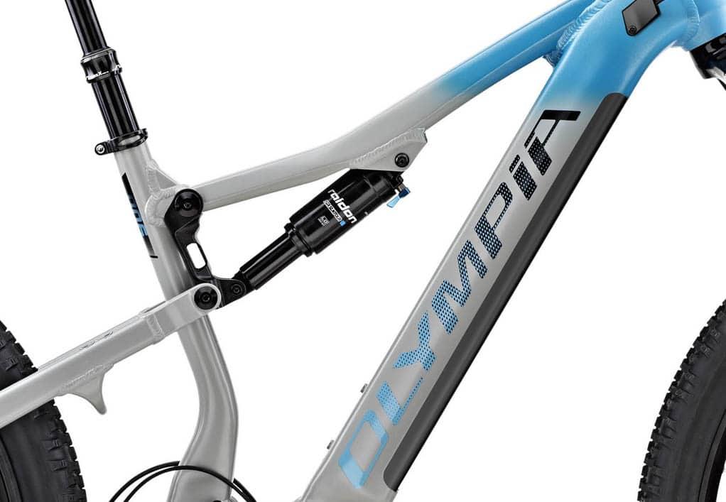 Detailansicht des E-Bikes Olympia EX900 mit PowerNine 900 Wh Akku