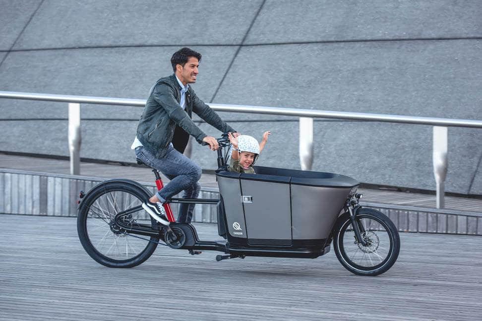 Das E-Bike Carqon ist ein Lastenrad zum Personentransport.