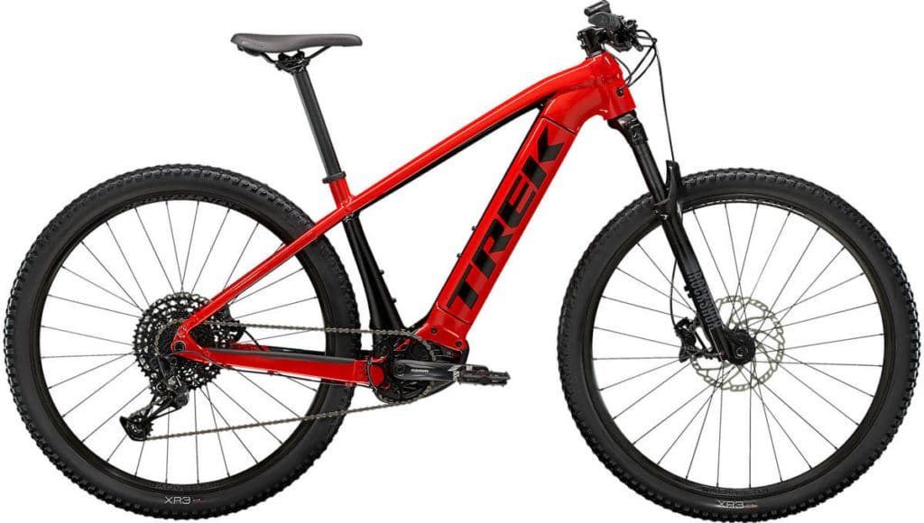 E-Bike Trek PowerFly 5 radioactive red trek black