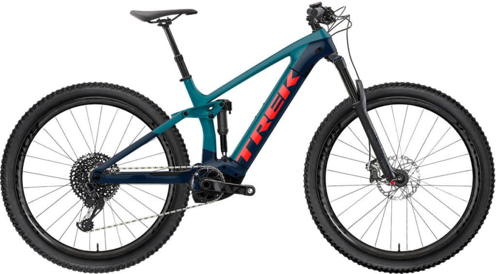 E-Bike Trek Rail 9.9 x01 teal nautical navy