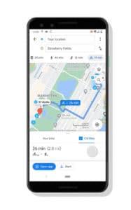 Mit Google Maps das Ziel auswählen