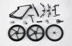 E-Bike Superstrata E in seine Einzelteile zerlegt
