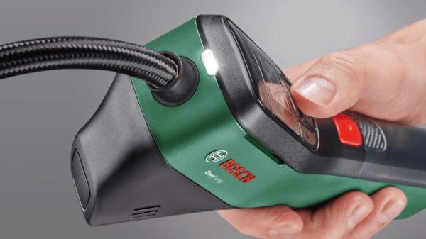 Akku-Druckluftpumpe Bosch Easypump mit LED-Licht