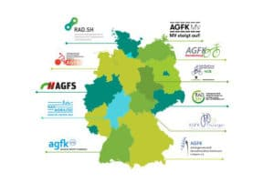 Übersicht der kommunalen Arbeitsgemeinschaften für Radverkehr in Deutschland