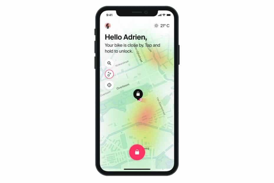 App von Cowboy mit Anzeige der Luftqualität