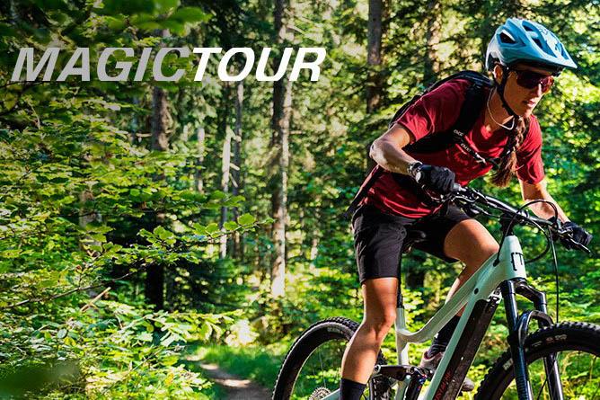 Unterstützungsstufe Magic Tour für E-Mountainbikes von Moustache