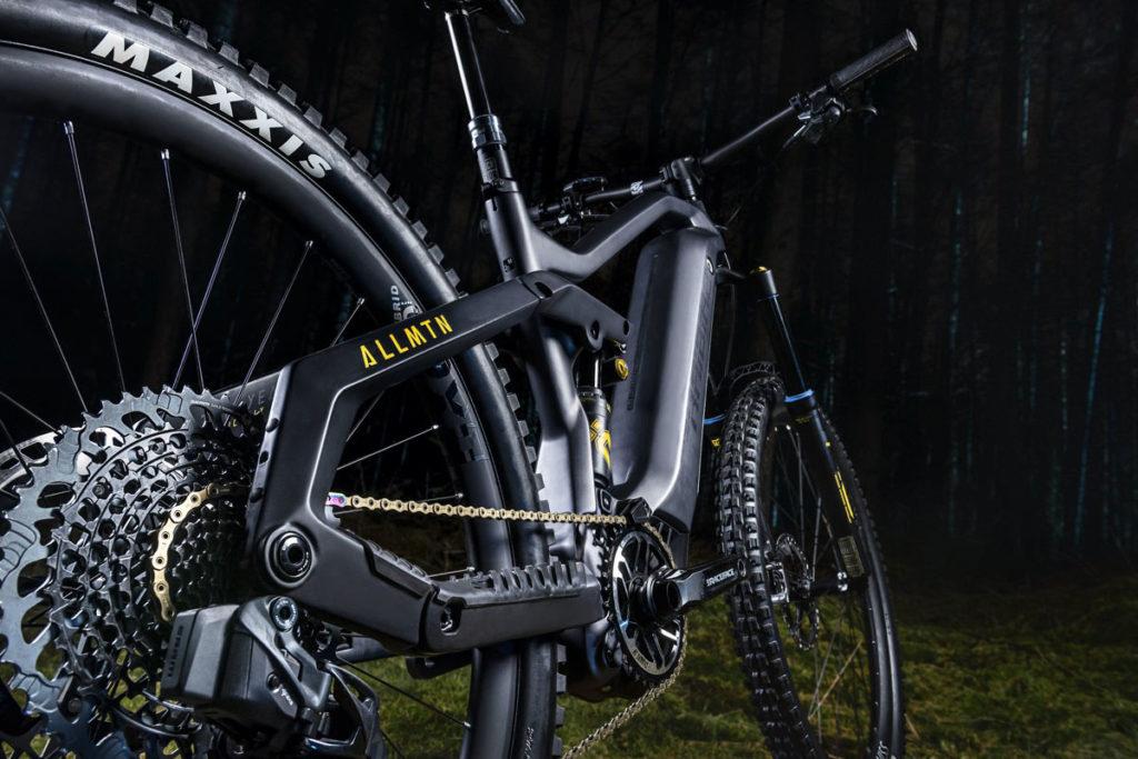 Hinterbau des E-Bikes Allmtn SE von Haibike