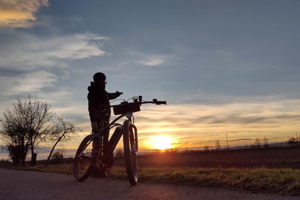Winterpendlertag 2021 - Sonnenaufgang unterwegs
