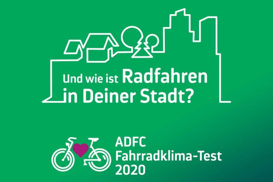 Logo das ADFC Fahrradklimatests 2020