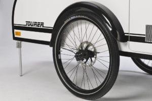 Scheibenbremsen am Fahrradwohnwagen Mody von ModyPlast