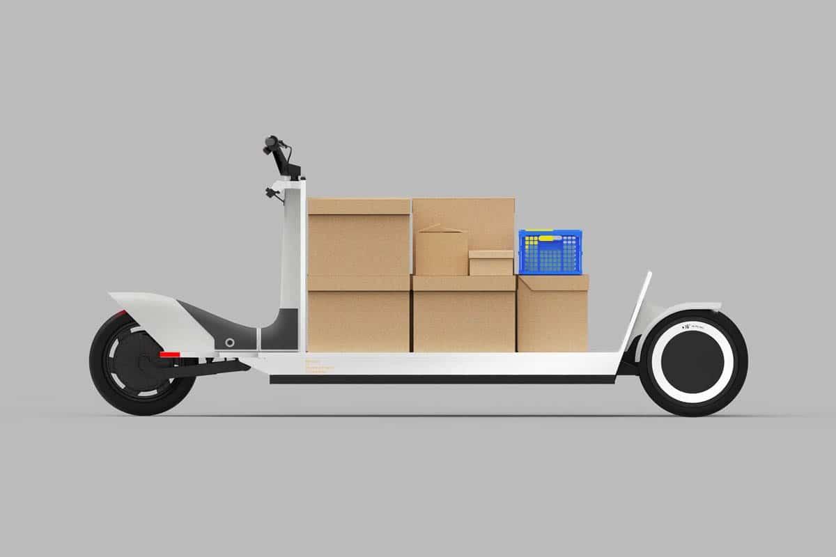 Urbaner E-Schlitten Re:Move zum innerstädtischen Transport von Lasten