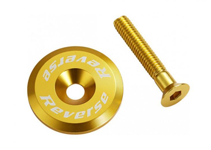 Reverse-Steuersatzkappe-Gold