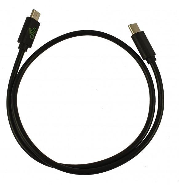 USB-Ladekabel - zur Verbindung zwischen Yamaha, Bosch oder Impulse Displays und Smartphone mit USB-C Anschluss