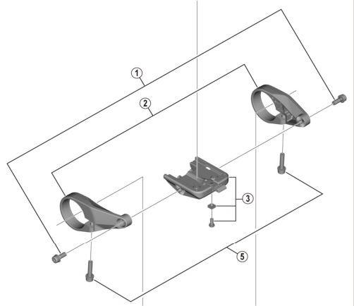 SHIMANO Display-Halterung für STEPS Display SC-E6100 Y-78S98040