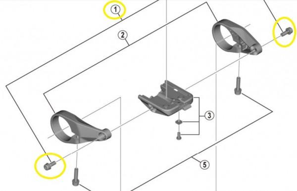 SHIMANO Schrauben für STEPS Display SC-E6100 Y-78S98010