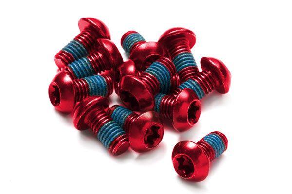 REVERSE E-Bike Bremsscheibenschrauben Set - rot