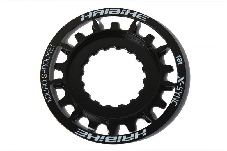 Haibike XDuro E-Bike 18 Zähne Ritzel, schwarz