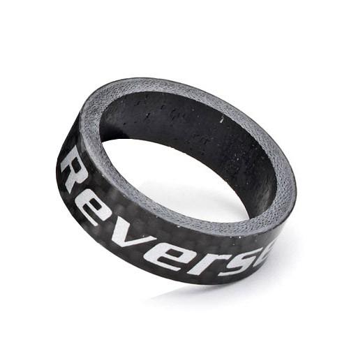 """REVERSE Spacer Carbon 1 1/8"""" (Schwarz) 10 mm"""