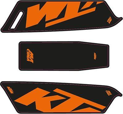 KTM 2016 e-Bike Aufkleber - schwarz - orange matt