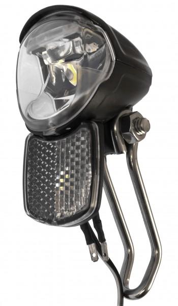 B&M IQ2 EYC T Scheinwerfer 50 Lux 6 Volt mit Frontreflektor