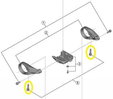 SHIMANO Klemmschraube für Lenkerhalter STEPS Display (M4 x 20mm)