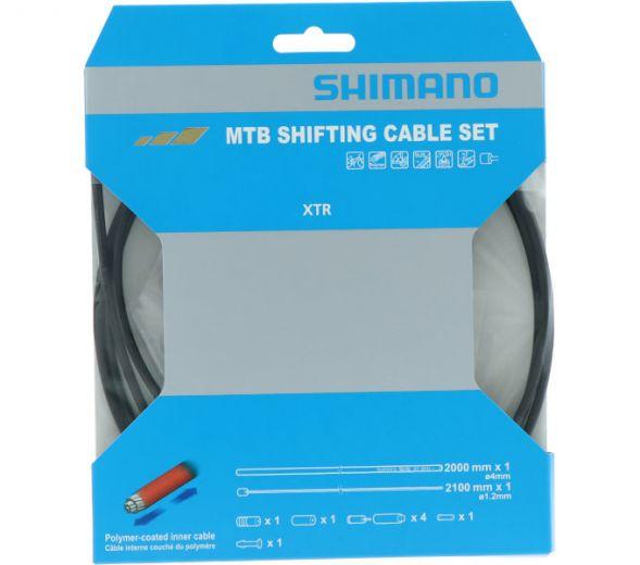 SHIMANO XTR Schaltzug-Set MTB polymerbeschichtet Bild 1