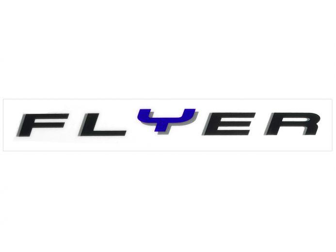 Schriftzug Aufkleber FLYER E-Bike Rahmen Blau