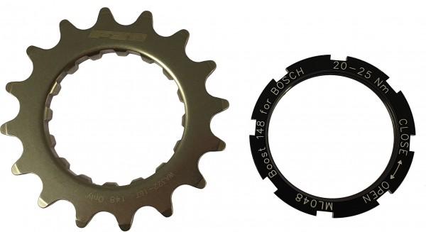 FSA Kettenblatt 16 Zähne für Bosch Antrieb mit 2,5 mm Offset inkl. Lockring