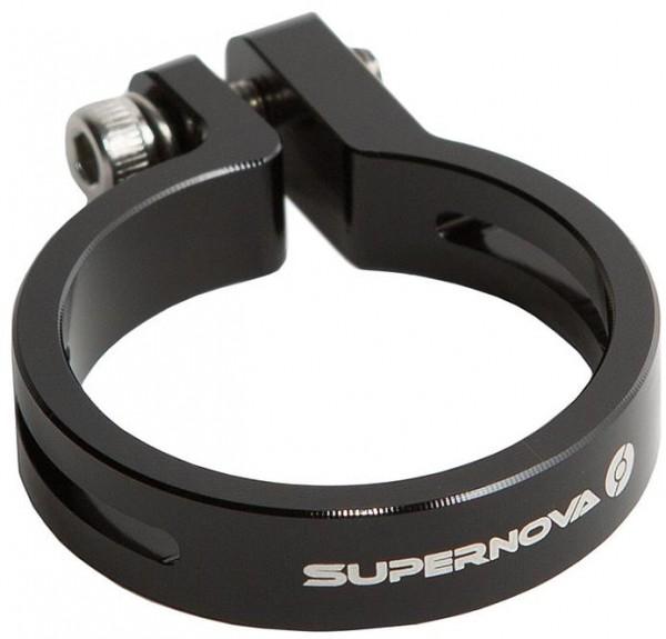 Supernova Seat Post Clamp 31.6mm schwarz für Tail Light