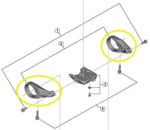 SHIMANO Lenkerschelle (rechts+links) für STEPS Display SC-E6100 Y-78S98020