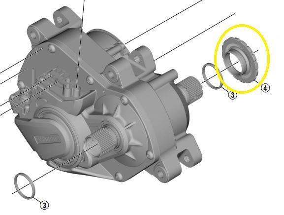 SHIMANO Verschlussring für STEPS Antriebseinheit Y-78N00085