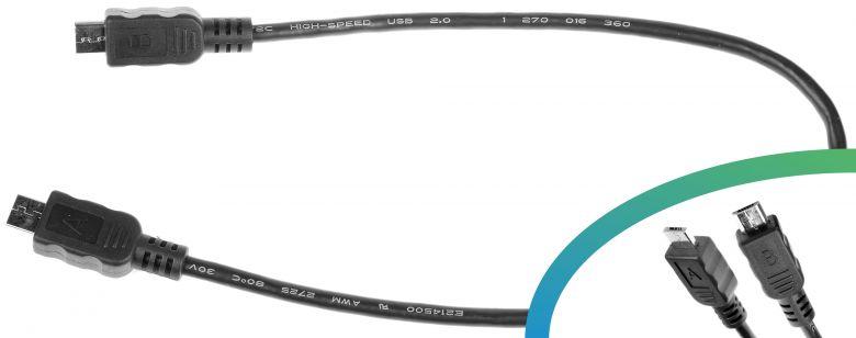 Bosch E-Bike USB-Ladekabel Micro A - Micro B