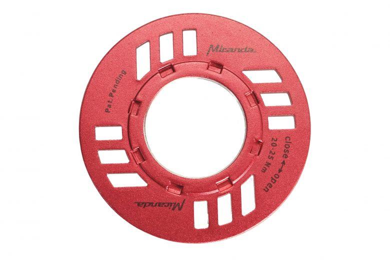 Miranda E-Bike Verschlussring inkl. Kettenschutz für Bosch rot