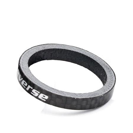 Reverse Gabelschaft Carbon Spacer 10mm 1 1//8 schwarz