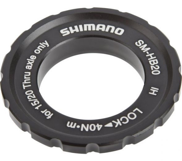 SHIMANO SM-HB20 Centerlock Verschlussring für Naben mit Steckachse 15/20mm