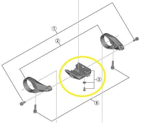 SHIMANO Halterung (Bracket) für STEPS Display SC-E6100 Y-78S98030