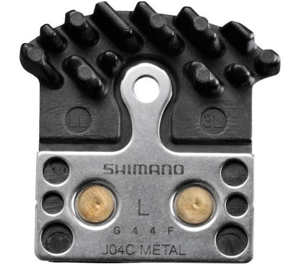 SHIMANO Scheibenbremsbelag J04C Metall mit Kühlrippen
