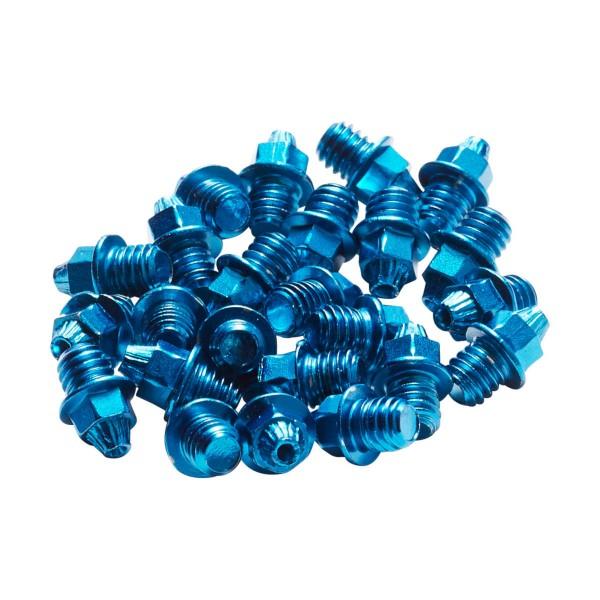24xREVERSE Pedal Pins M4 Set (Stahl) Blau