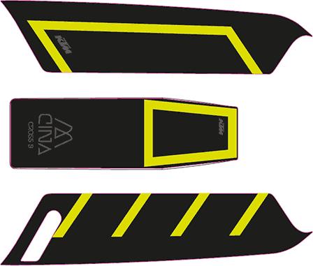 Aufkleber KTM Macina 2015 schwarz-gelb
