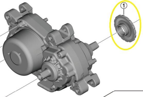 SHIMANO Verschlussring für STEPS Antriebseinheit DU-E5000 Y-79H00480