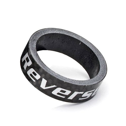 "REVERSE Spacer Carbon 1 1/8"" (Schwarz) 10 mm"