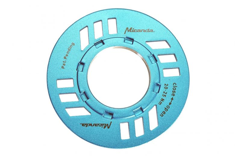 Miranda E-Bike Verschlussring inkl. Kettenschutz für Bosch blau